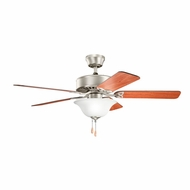 Kichler 330110NI Renew Select Brushed Nickel Finish 50 Inch Home Ceiling Fan