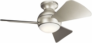 Kichler 330150NI Sola Contemporary Brushed Nickel 34  Ceiling Fan