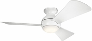 Kichler 330151MWH Sola Contemporary Matte White 44  Indoor Ceiling Fan