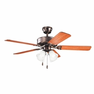 Kichler 339240OBB Renew Premier Oil Brushed Bronze Finish 50 Inch Home Ceiling Fan