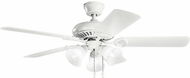 Kichler 339400MWH Sutter Place Select Matte White Ceiling Fan
