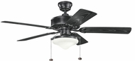 Kichler 339516SBK Renew Select Patio Satin Black Fluorescent 52 Inch Ceiling Fan