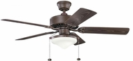 Kichler 339516TZP Renew Select Patio Tannery Bronze Powder Coat Fluorescent 52 Inch Home Ceiling Fan