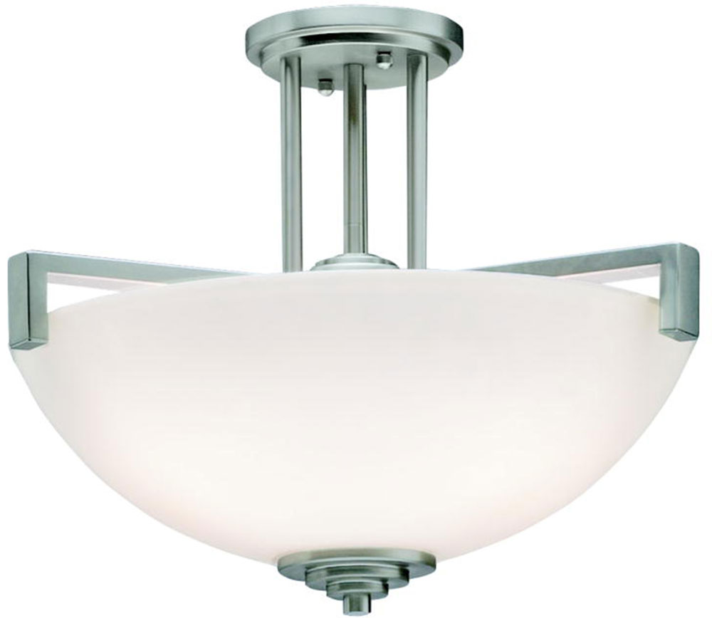 Kichler 3797nil16 eileen contemporary brushed nickel led for Modern led light fixtures