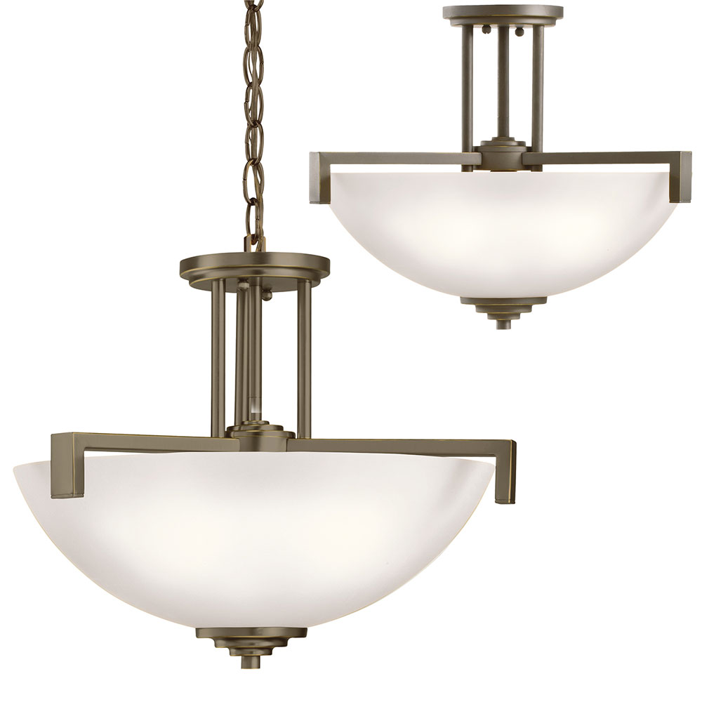 Kichler 3797ozs eileen contemporary olde bronze drop Modern pendant lighting
