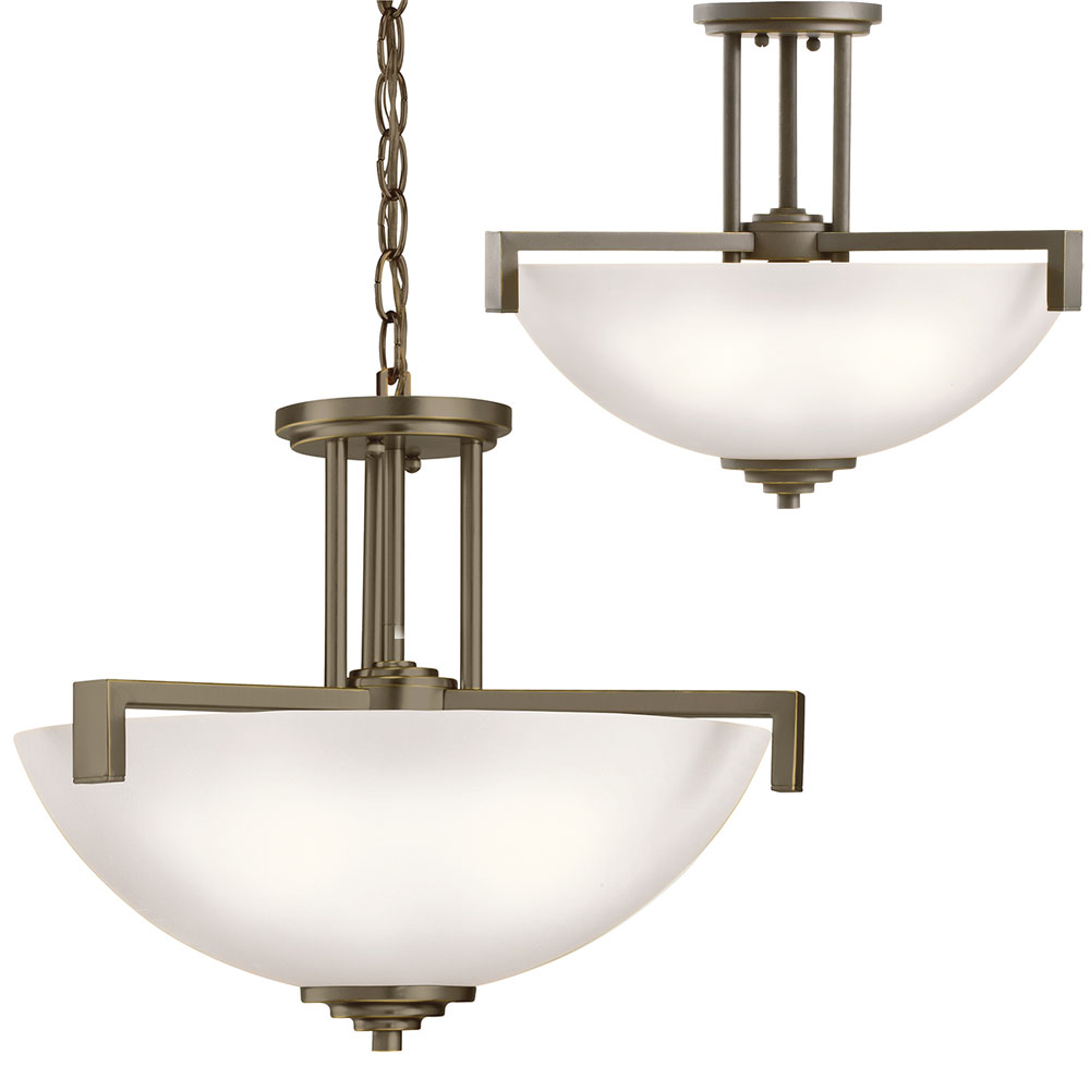Kichler 3797ozsl16 Eileen Modern Olde Bronze Led Drop Ceiling Lighting Ceiling Lighting
