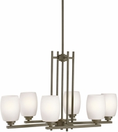 Kichler 3898OZSL16 Eileen Contemporary Olde Bronze LED Kitchen Island Light Fixture