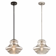 Kichler 42044 Everly Vintage 12  Wide Pendant Light Fixture