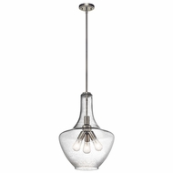 Kichler 42190NI Everly Brushed Nickel 16  Pendant Lighting