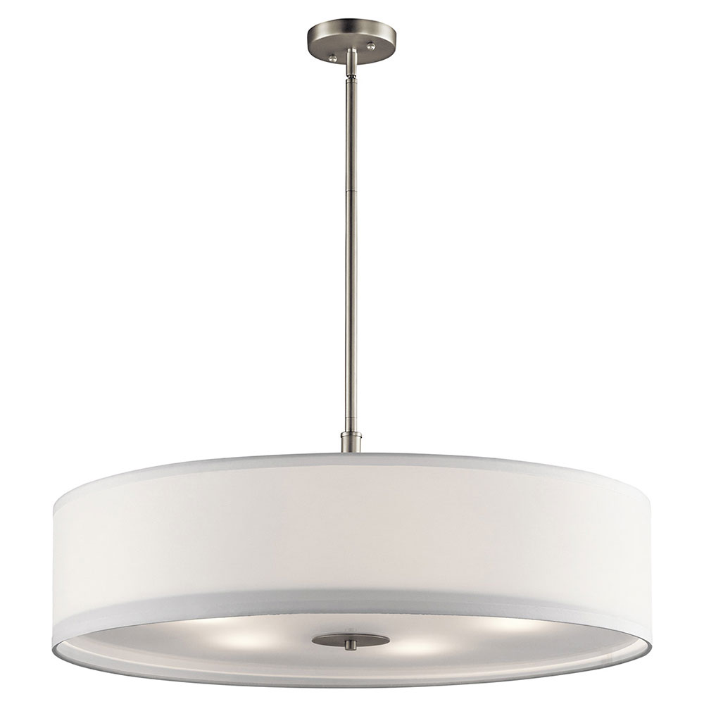 drum lighting pendant. Kichler 42196NI Brushed Nickel Drum Lighting Pendant. Loading Zoom Pendant H