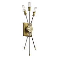 Kichler 42203NBR Doncaster Contemporary Natural Brass Wall Lamp