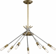 Kichler 42211NBR Doncaster Contemporary Natural Brass Chandelier Light