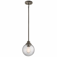 Kichler 42324OZ Penelope Olde Bronze Mini Hanging Pendant Light
