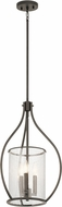 Kichler 42495OZ Fiona Contemporary Olde Bronze Foyer Light Fixture