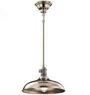 Kichler 42580PN Cobson Vintage Polished Nickel Pendant Light Fixture