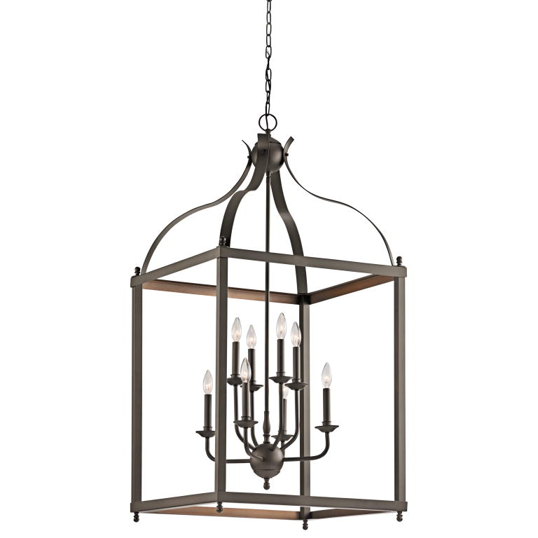 Wide Foyer Chandelier : Kichler oz larkin olde bronze finish quot wide foyer