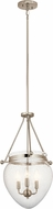 Kichler 42592PN Belle Polished Nickel Entryway Light Fixture