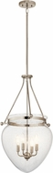 Kichler 42594PN Belle Polished Nickel Foyer Light Fixture