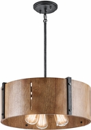Kichler 42644DBK Elbur Retro Distressed Black Hanging Light