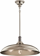 Kichler 42649PN Cobson Vintage Polished Nickel Hanging Pendant Lighting