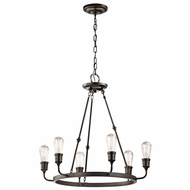 Kichler 42708OZ Lucien Vintage Olde Bronze Finish 25.25  Wide Chandelier Light