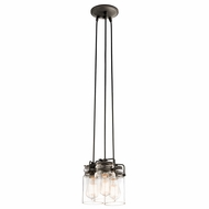 Kichler 42869OZ Brinley Vintage Olde Bronze Finish 8.5  Wide Multi Hanging Light