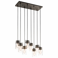 Kichler 42890OZ Brinley Vintage Olde Bronze Finish 10.25  Wide Multi Pendant Lighting Fixture