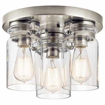 Kichler 42891NI Brinley Brushed Nickel Overhead Lighting