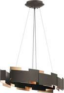 Kichler 42993OZLED Moderne Contemporary Olde Bronze LED Island Lighting