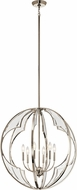 Kichler 43097PN Montavello Modern Polished Nickel Chandelier Lamp