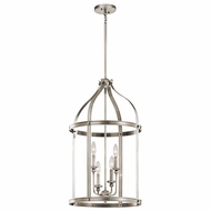 Kichler 43107CLP Steeplechase Classic Pewter Finish 17  Wide Foyer Lighting