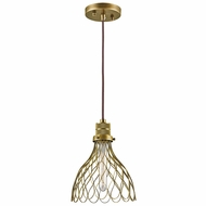 Kichler 43127NBR Devin Modern Natural Brass Mini Ceiling Light Pendant