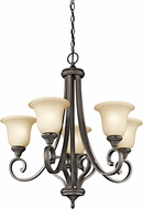 Kichler 43156OZL16 Monroe Olde Bronze LED Chandelier Light