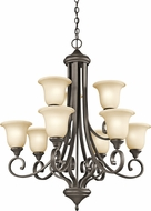 Kichler 43159OZL16 Monroe Olde Bronze LED Lighting Chandelier