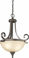 Kichler 43163OZL16 Monroe Olde Bronze LED Hanging Pendant Lighting