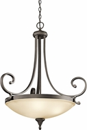 Kichler 43164OZL16 Monroe Olde Bronze LED Pendant Hanging Light