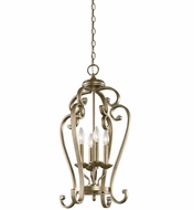 Kichler 43165SGD Monroe Sterling Gold Foyer Lighting Fixture