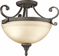 Kichler 43169OZL16 Monroe Olde Bronze LED Flush Mount Light Fixture
