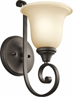Kichler 43170OZL16 Monroe Olde Bronze LED Wall Sconce Lighting