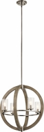 Kichler 43185DAG Grand Bank Contemporary Distressed Antique Gray Mini Chandelier Lamp