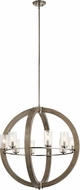 Kichler 43190DAG Grand Bank Modern Distressed Antique Gray Chandelier Light