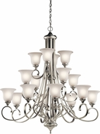 Kichler 43192NIL16 Monroe Brushed Nickel LED Ceiling Chandelier