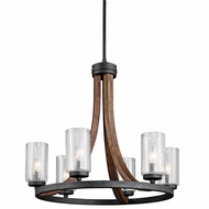 Kichler 43193AUB Grand Bank Rustic Auburn Stained Finish Finish 22.5 Tall Hanging Chandelier