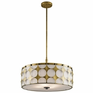 Kichler 43276NBR Charles Modern Natural Brass Drum Drop Ceiling Light Fixture