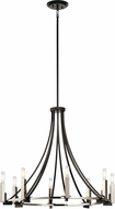 Kichler 43291BK Bensimone Modern Black Lighting Chandelier