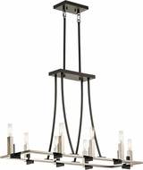 Kichler 43292BK Bensimone Contemporary Black Kitchen Island Light Fixture