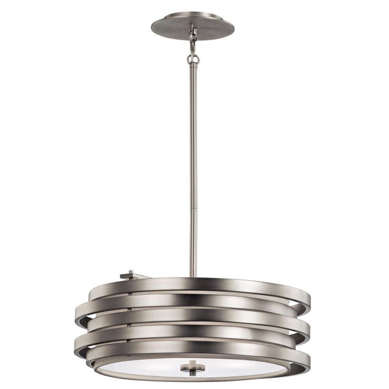 Kichler 43301ni roswell contemporary brushed nickel finish 7 tall ceiling light pendant loading zoom