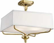 Kichler 43309NBR Arlo Natural Brass Flush Lighting
