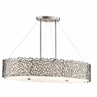 Kichler 43348CLP Silver Coral Contemporary Classic Pewter Finish 13.5  Tall Island Lighting