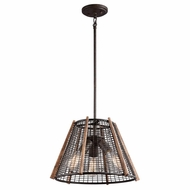 Kichler 43352RT Calleis Retro Rust Finish 16  Wide Drop Ceiling Light Fixture